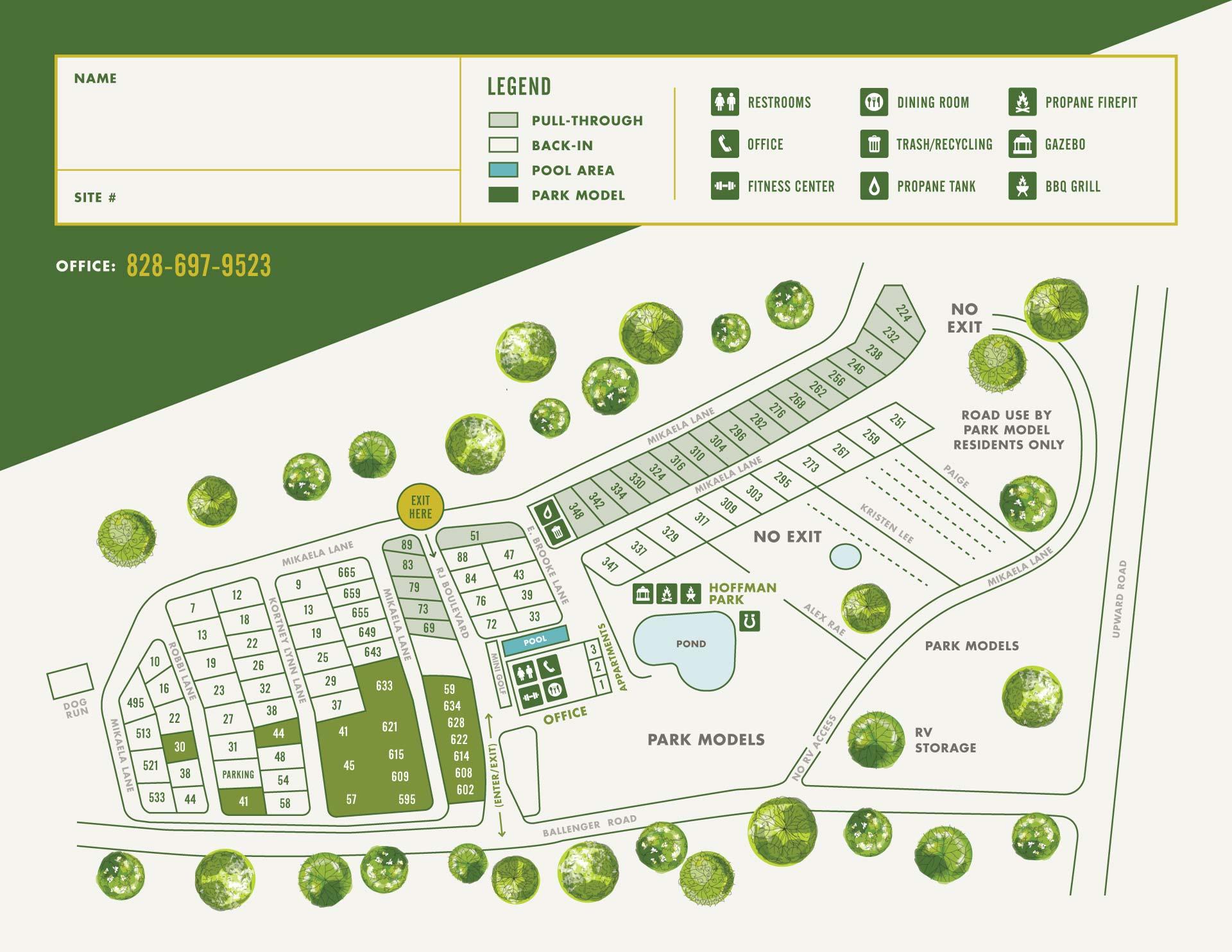 lakewood rv map