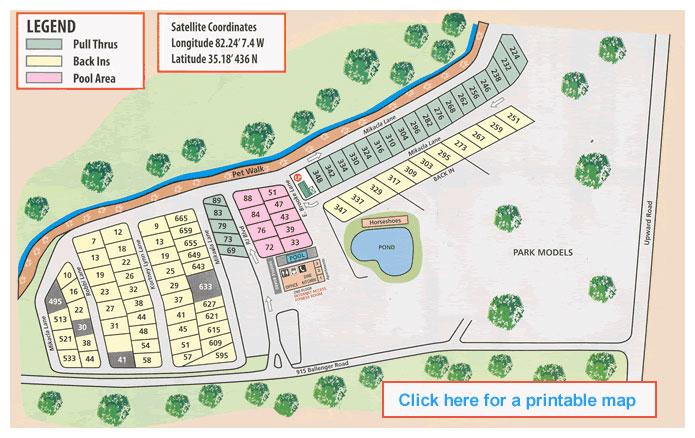 Resort Map Lakewood Rv Resort